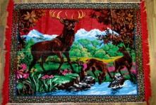Wandteppich aus Italien 190 cm X120 cm Hirsch Motiv RBY