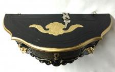 Wandkonsole mit Schublade/Spiegelkonsole/ Barock Schwarz-Gold 50x27 Antik cp84