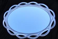 Wandspiegel silber spiegel GROSS Oval BADSPIEGEL Flurspiegel 020G