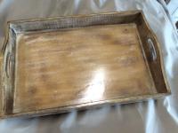 Tablett Serviertablett Neu Braun Rustikal Holz Deko Landhaus Skandinavien Retro