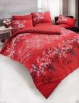 Bettwäsche Eden Rot 4 tlg Baumwolle 200x220 Renforce Hotelbettwäsche Ornament