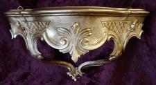 Wandkonsole/Spiegelkonsolen/ B:30xT:13xH:16 cm Wandregal BAROCK ANTIK Gold cp69
