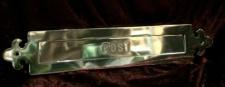 Briefkasten Einwurfklappe 39x8 Rahmen Schlitz Briefschlitz Antik Gold Türeinwurf