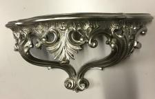 Wandkonsole Antik Silber Spiegelkonsolen BAROCK/Wandregal 38x20 Neu3083