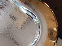 Servierplatte Tablett metall Silber gold 52x37 Servierbrett Auftragebrett Platte