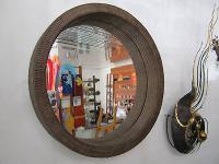 Wandspiegel Spiegel Rund Ø 80cm Rattan Unikat NEU OVP