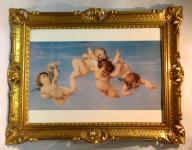 Schutzengel Engelbild 90x70 Wandbild Schlafzimmer Bild Heilige Bild Engel 2