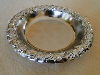 Chrom Schale für Obst , Behälter, teller Deko Silber verchromt 20 cm