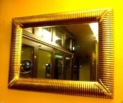 Wandspiegel groß 118x88 Antik Gold großer Spiegel BADSPIEGEL 019A FlurSpiegel