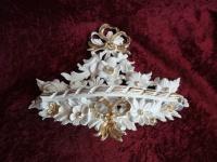 Wandkonsole Antik/Spiegelkonsolen/BAROCK Creme Elfenbein-Gold B:35cm cp83 Ivory