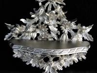 Wandkonsole Barock/ Spiegelkonsole Antik Silber Konsolen Tisch B:35cm cp83