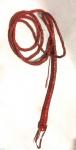 Lederpeitsche Peitsche Rot Bullenpeitsche ca.230 cm Billwhip