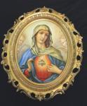 Madonna Bild mit Rahmen Heiligenbilder Gemälde Heilige Maria Mutter Gottes