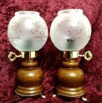 Tischlampe Tischleuchte Nachtischlampe Schreibtischlampe Antikstill Glasschirm