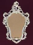 Wandspiegel Oval Vintage BadSpiegel Antik weiß-Gold 50X76 BAROCK Bilderrahmen