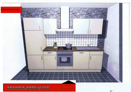 Einbauküche MANKADELTA 2 Küche Küchenzeile 280cm montiert Küchenblock m.E-Geräte