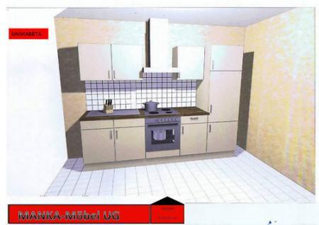 Einbauküche MANKABETA 1 Vanille Küche Küchenzeile 270cm Küchenblock mit E-Geräte - Vorschau 3