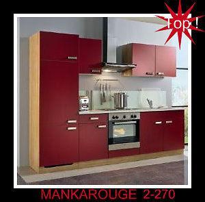 Einbauküche MANKAROUGE 2 Küche 270cm Küchenzeile Küchenblock mit allen E-Geräten