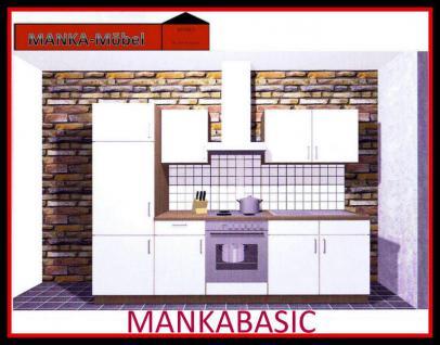 Küchenzeile MANKABASIC 3 Küche 270cm Küchenblock Vanille/Sonoma Eiche o.E-Geräte