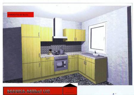 Einbauküche MANKAEPSILON Küchenzeile L-Form m.E-Geräte - Vorschau 1