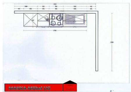 Einbauküche MANKAROUGE 1 Rubinrot Küche Küchenzeile 270cm Küchenblock m.E-Geräte - Vorschau 2