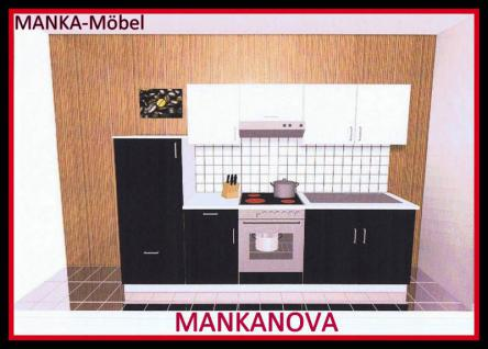 k chenzeile mankanova 2 k che 270cm k chenblock hochglanz schwarz wei m ger ten kaufen bei. Black Bedroom Furniture Sets. Home Design Ideas