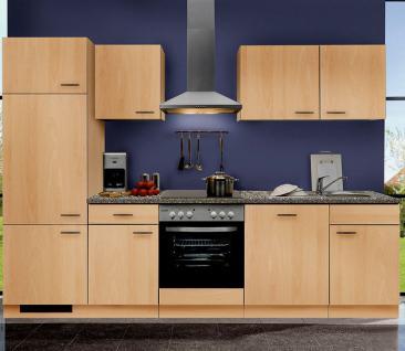 Küchenzeile MANKAPORTABLE 11 Küche 280cm Küchenblock in Buche m. allen E-Geräten