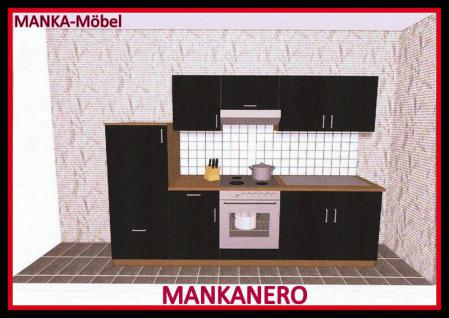k chenzeile mankanero 3 k che 270cm k chenblock hochglanzschwarz sonoma o ger te kaufen bei. Black Bedroom Furniture Sets. Home Design Ideas