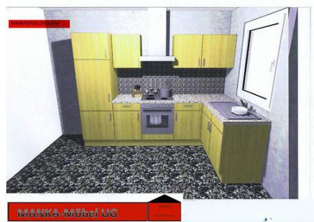 Einbauküche MANKAEPSILON Küchenzeile L-Form m.E-Geräte - Vorschau 2