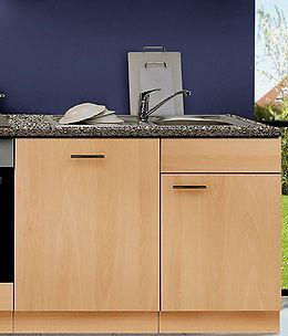 Spülzentrum mit APL/Einbauspüle+Armatur MANKAPORTABLE Buche Spülenunterschrank - Vorschau 1