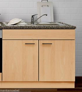Spülenunterschrank o. APL MANKAPORTABLE Buche 100x60cm Küche Spüle Unterschrank - Vorschau 1