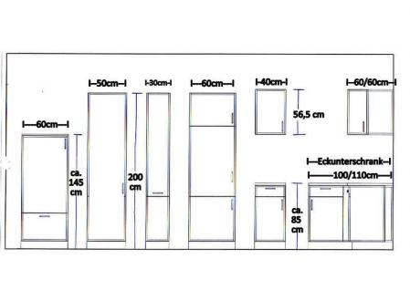 Küchenzeile MANKADUO 2 Küche 270cm Küchenblock HochglanzWeiss/Kirschb. m.Geräte - Vorschau 5