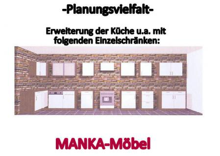 Küchenzeile MANKADUO 2 Küche 270cm Küchenblock HochglanzWeiss/Kirschb. m.Geräte - Vorschau 4