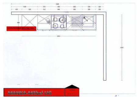 Einbauküche MANKAGAMMA 3 Buche Küche Küchenzeile 280cm Küchenblock o. E-Geräte - Vorschau 5