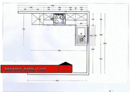 Einbauküche MANKAZETA 2 Küchenzeile L-Form m.E-Geräte - Vorschau 3