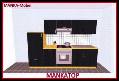 k chenzeile mankatop 2 k che 270cm k chenblock hochglanzschwarz buche m ger te kaufen bei. Black Bedroom Furniture Sets. Home Design Ideas