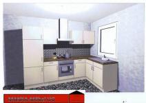 Einbauküche MANKAZETA 2 Küchenzeile L-Form m.E-Geräte