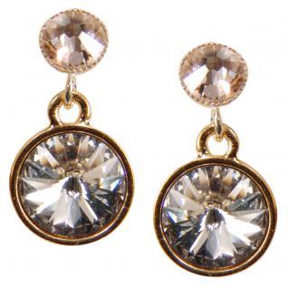 Kristall-Ohrringe mit SWAROVSKI ELEMENTS. Kristall-Peach