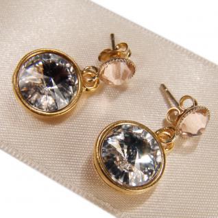 Kristall-Ohrringe mit SWAROVSKI ELEMENTS. Kristall-Peach - Vorschau 2