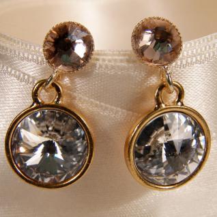 Kristall-Ohrringe mit SWAROVSKI ELEMENTS. Kristall-Peach - Vorschau 3