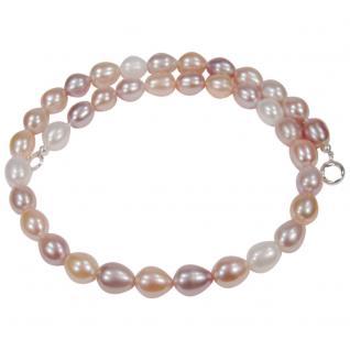 Multicolor-Perlenkette in Pastelltönen