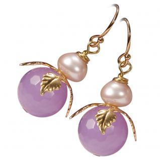 Ohrring Jadeblüte mit Perle