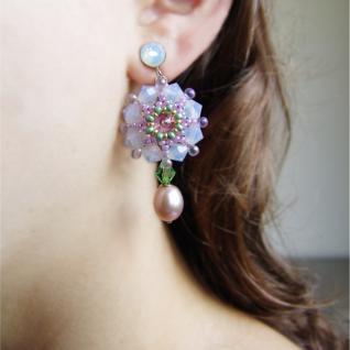 Kristall-Ohrhänger mit SWAROVSKI ELEMENTS und Süßwasserperle - Vorschau 5