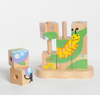 Von der Raupe zum Schmetterling ? Stapelpuzzle - Vorschau 2