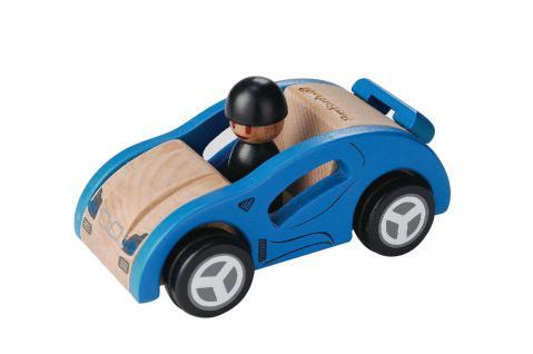 Blauer Rennwagen