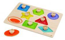 Formen- und Holzpuzzle