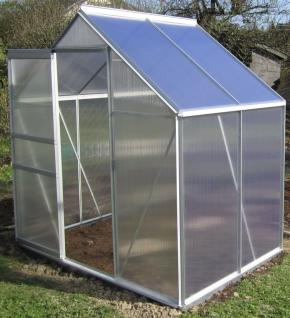 2 5m alu aluminium gew chshaus glashaus tomatenhaus 6mm hohlkammerstegplatten platten made. Black Bedroom Furniture Sets. Home Design Ideas