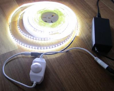 SET 2760 Lumen 5m Led Streifen 600 LED neutralweiß mit Dimmer inkl. Netzteil 24V (Pro-Serie) TÜV/GS geprüft