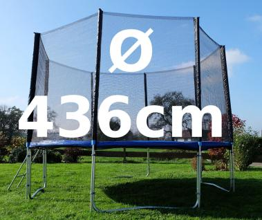 Outdoor Gartentrampolin Trampolin XL - 436cm komplett inkl. Sicherheitsnetz und Leiter TÜV geprüft