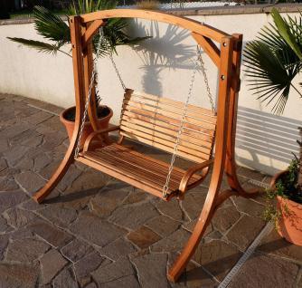 """Design Hollywoodschaukel Gartenschaukel Hollywood Schaukel aus Holz Lärche Modell: """" KUREDO-OD"""""""